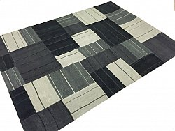 Patchwork Tæppe - Superior new wool Patchwork (sort)