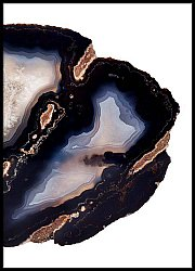 Dark blue agate